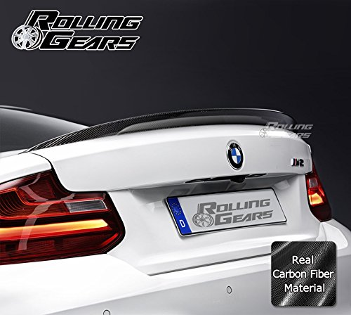 Rolling Gears F22 Carbon Fiber Trunk Spoiler Fits BMW F22 2 Series 2-Door Coupe, 2013-2017, Performance Style ()