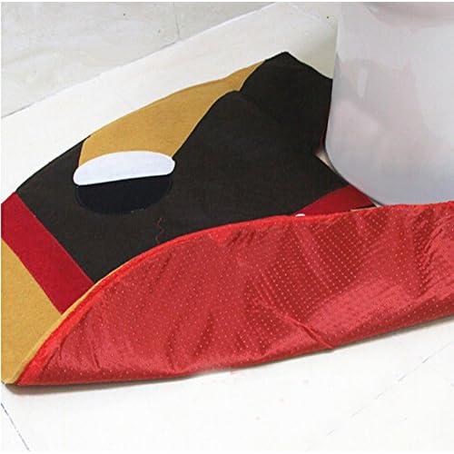 30%OFF Pparty 3D Elk Toilet Seat Cover Rug Tank Set Santa Bathroom Xmas Decorations