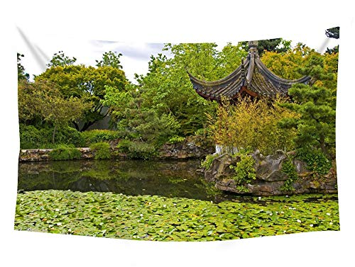 PUPBEAMO PRINTS Dr. Sun Yat-Sen Classical Chinese Garden - #34028 - Wall Tapestry Art for Home Decor Wall Hanging Tapestry 60x40 inches (Dr Sun Yat Sen Classical Chinese Garden)