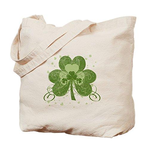 CafePress–Swirly trébol–Gamuza de bolsa de lona bolsa, bolsa de la compra Small caqui