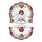 Le Cadeaux Melamine Allegra Red Large Cheese Board with Utensils