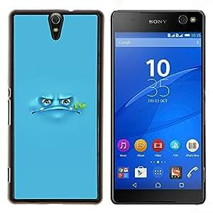 - blue frog cartoon grumpy monster - - Modelo de la piel protectora de la cubierta del caso FOR Sony Xperia C5 Ultra RetroCandy