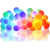 NSEN 100 Mini 44-ft Battery Operated Globe String Led Lights w/ 8 Modes & RC (Multi Color)