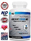 L-Arginine Cardio Max | 1500mg Cardio Support Blend | Plus L-Citrulline, Vitamins, Minerals Support Cardio Health, Blood Pressure, Cholesterol, Energy, Nitric Oxide | One Bottle 180 Caps | Ships Free