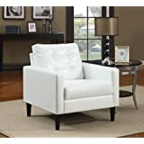 Nice Acme 59048 Balin Accent Chair, White Polyurethane Finish