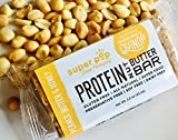 Peanut Butter & Honey Protein Nut Butter Bar by Super Pop Snacks | GLUTEN, SOY & DAIRY FREE with NO Refined Sugar | The All-natural candy bar alternative. Crispy, creamy and addicting! | 12 Pack