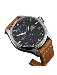 WhatsWatch 47mm parnis big pilot stainless steel power reserve automatic mens watch PA-033