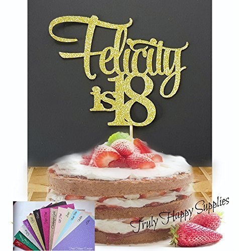 Personalised Birthday Cake Topper Custom Name And Age 1 18 21 30 40 50