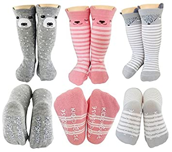 Women's Socks & Hosiery Independent Baby Socks Toddler Knee High Sock Kids Girl Boy Animal Pattern Anti-slip Cute Cartoon Cat Cat Leg Warmers Warm Long Sock