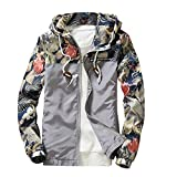 Men's Tops, Leedford Men Slim Stand Collar Jackets Fashion Sweatshirt Jacket Tops Casual Coat Outwear (Gray, M)