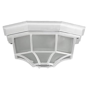Lámpara de techo para exterior de estilo tradicional/blanco ...