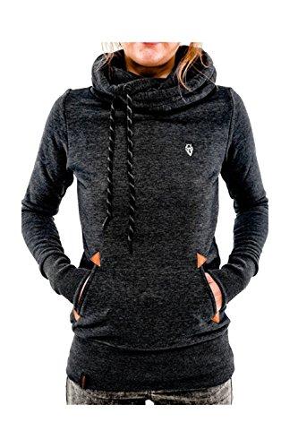 Abrigos y chaquetas de Casual sorteo cadena polar sudadera con capucha mujer negro