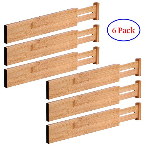 G-LEAF 6 Set Drawer Dividers Bamboo Adjustable Kitchen Drawers Organizer Divider by G-LEAF (Image #7)