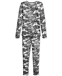 32 Degrees Weatherproof Big Boy\'s Base Layer Thermal Set, XL, Gray Camo