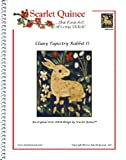 Scarlet Quince UNK014-D2 Cluny Tapestry Rabbit II Counted Cross Stitch Chart, Regular Size Symbols