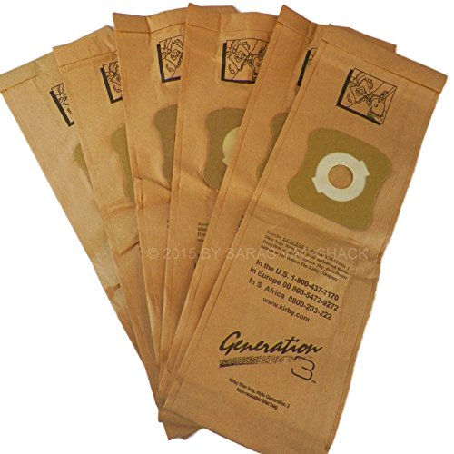 6 Genuine Kirby Vacuum Cleaner Bags G3 G4 G5 G6 G7 Sentria Ultimate Diamond Bag (Kirby Ceiling Fan Attachment compare prices)