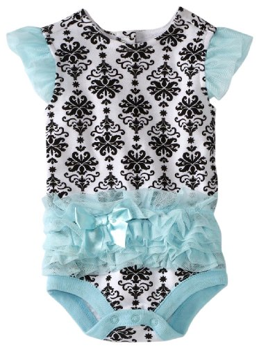 Vitamins Baby Baby Girls' Damask Print Tutu Bodysuit