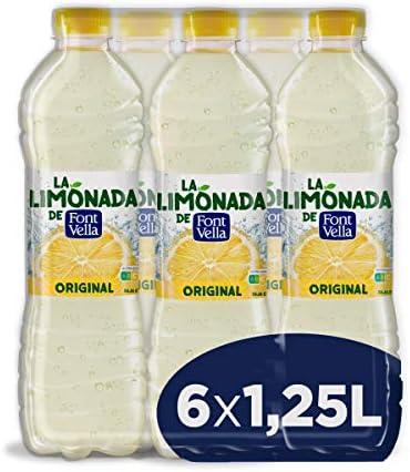 Font Vella Levité Agua Mineral con Zumo de Limón - Paquete de 6 x ...