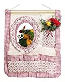 Storage Boxes Creative Hanging Storage Bags With Mirrors Pink
