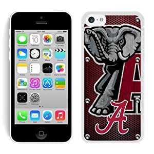 Unique And Durable Custom Designed Case For iPhone 5C With Southeastern Conference SEC Football Alabama Crimson Tide 17 Black Phone Case
