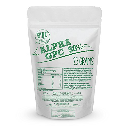 Alpha GPC 50% Powder | Cognitive Enhancer | Nootropic | Enhanced Power Output | Mood Support | Memory | Learning | Concentration | Focus