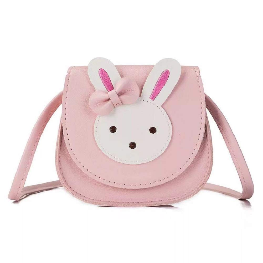 Micolin Cute Rabbit Pink Shoulder Bag with Strap Handbag Purse for Little Girls Kids Toddlers Pink by Micolin