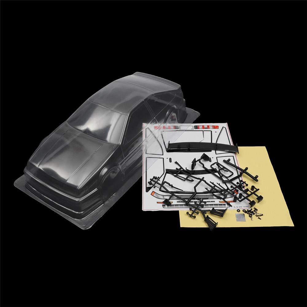 1/10 Carcasa de plástico Transparente de PVC RC para Coche de 260 mm con Base de Rueda para HSP HPI YOKOMO Tamiya