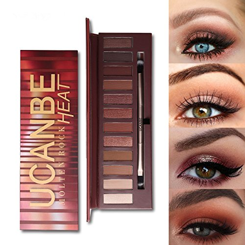UCANBE 12 Colors Molten Rock Heat Shimmer Matte Warm Red Ora