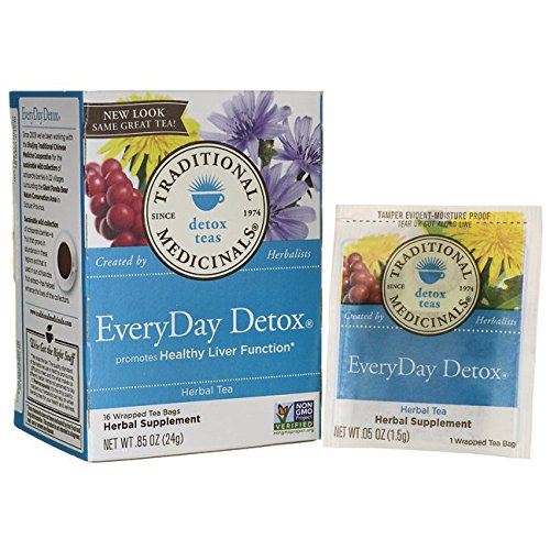 Traditional Medicinals Everyday Detox Herbal Wrapped Tea Bags, 16 ct