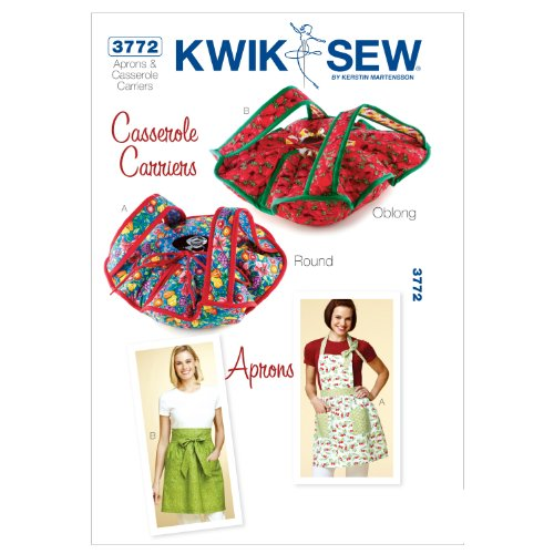s and Casserole Carriers Sewing Pattern, Size Apron Sizes S-M-L ()