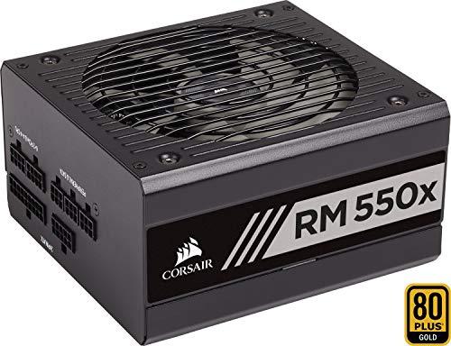 Corsair RM550x Alimentatore PC, Completamente Modulare, 80 Plus Gold, 550 Watt, EU, Serie RMX, Nero