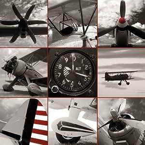 Zig Zag Art Aircraft Montage' Por Matt McCarthy - Impresión de alta calidad como ARTBLOCK (tamaño de imagen 65 cm W x 65 cm H x 2.5 cm P)