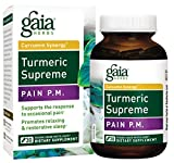 Gaia Herbs Turmeric Supreme Pain P.M, Vegan Liquid Capsules, 30 Count – Turmeric Curcumin Supplement Promotes Relaxing Sleep & Healthy Pain Response, with Kava & Valerian For Sale