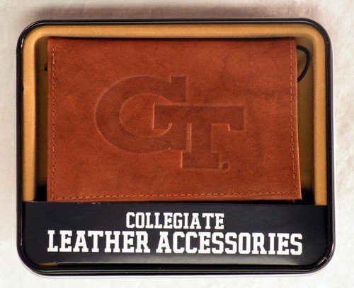 Rico Industries NCAA Georgia Tech Yellow Jackets Embossed Leather Trifold Wallet, ()