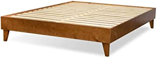 product image for eLuxurySupply Wood Bed Frame - 100% North American Pine - Solid Mattress Platform Foundation w/Pressed Pine Slats - Easy Assembly - King
