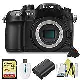Panasonic Lumix DMC-GH4 Mirrorless Micro Four Thirds Digital Camera (Body) + Pixi-Starter Accessories Bundle