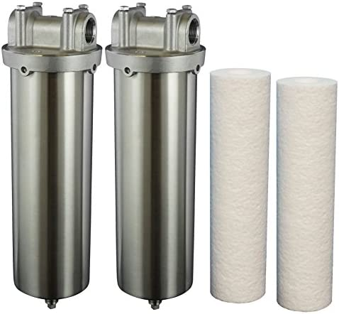 Hydro-Genics ESS-LD-10-34 Water Filter 2 Housings with 2 cartridges