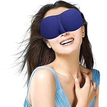 Eye Mask For Sleeping 2 Pack, Sleep Mask With Adjustable Strap 3d Contoured Shape Good Night Eyeshade For Women, Men, Soft Comfort Blindfold Great For Travel, Shift Work & Meditation (Black & Blue) 6