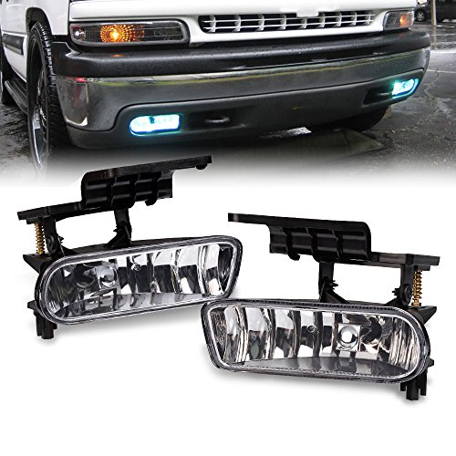 For 99-02 Chevy Silverado 1500 25000 01-02 Silverado 3500 00-06 Chevy SUBURBAN Tahoe Replacement Bumper Fog Lights Driving Lamps Left and Right Side