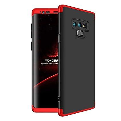 Funda Samsung Galaxy Note 9,Carcasa Galaxy Note 9,Funda 360 Grados Integral Para Ambas Caras+Cristal Templado,[360°]3 in 1 Slim Fit Dactilares ...