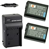 DSTE® 2x NP-FW50 Battery + DC107 Travel and Car Charger Adapter for Sony Alpha 7 7R 7R II 7S a7R a7S a7R II a5000 a5100 a6000 a6500 NEX-7 SLT-A37 DSC-RX10 DSC-RX10 II Digital Camera