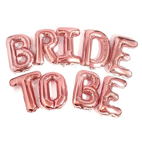 Big Bride to BE Balloons Rose Gold 16