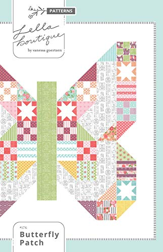 (Butterfly Patch Quilt Pattern LB176 by Lella Boutique)