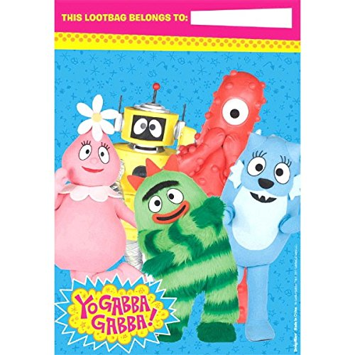 Amscan Hip and Hop Yo Gabba Gabba Loot Bags Birthday Party Supplies, 9 x 6-1/2