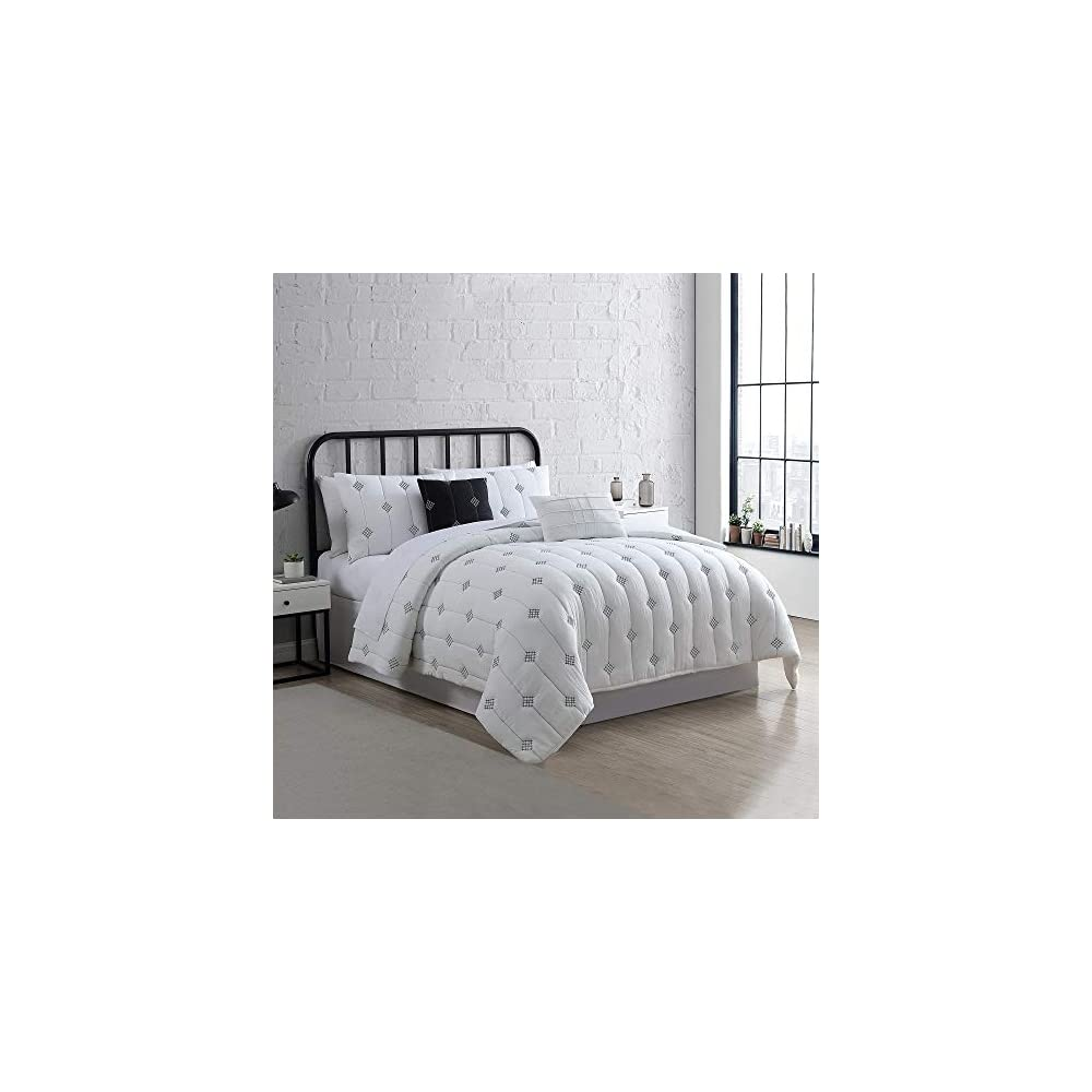 Modern Threads 5-Piece Eve Embroidered Garment Washed Comforter Set, King, Ivory