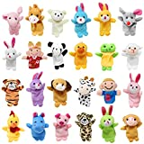 24 Pieces 2 3/8î Finger Puppet Easter Eggs for Easter Theme Party Favor, Easter Eggs Hunt, Basket Stuffers Fillers, Classroom Prize Supplies by Joyin Toy