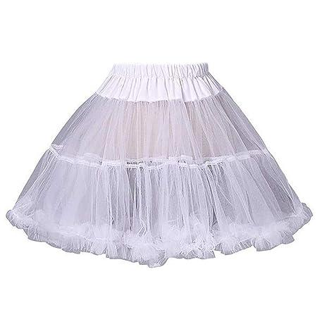Mikiya - Falda Corta para Mujer y niña, Color Blanco: Amazon.es: Hogar