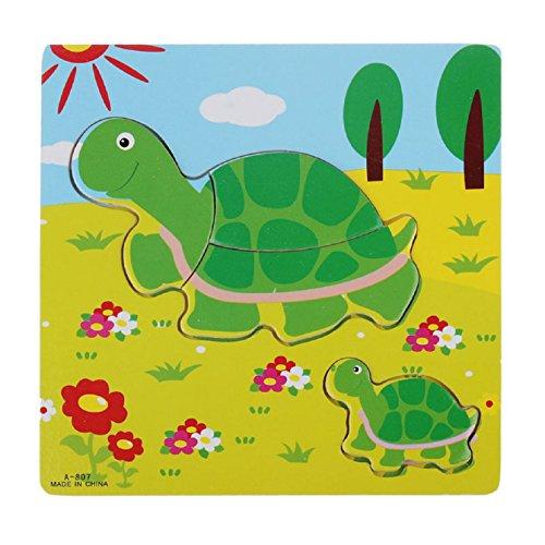 Sannysis Wooden Puzzle Educational Developmental Training Toy(Turtle)