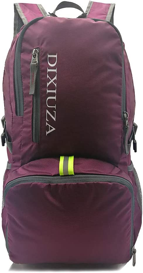 Lightweight Packable Backpack – DIXIUZA Water Resistant 35L Daypack for Travel, Cycling, Hiking, Camping, Beach, Outdoors
