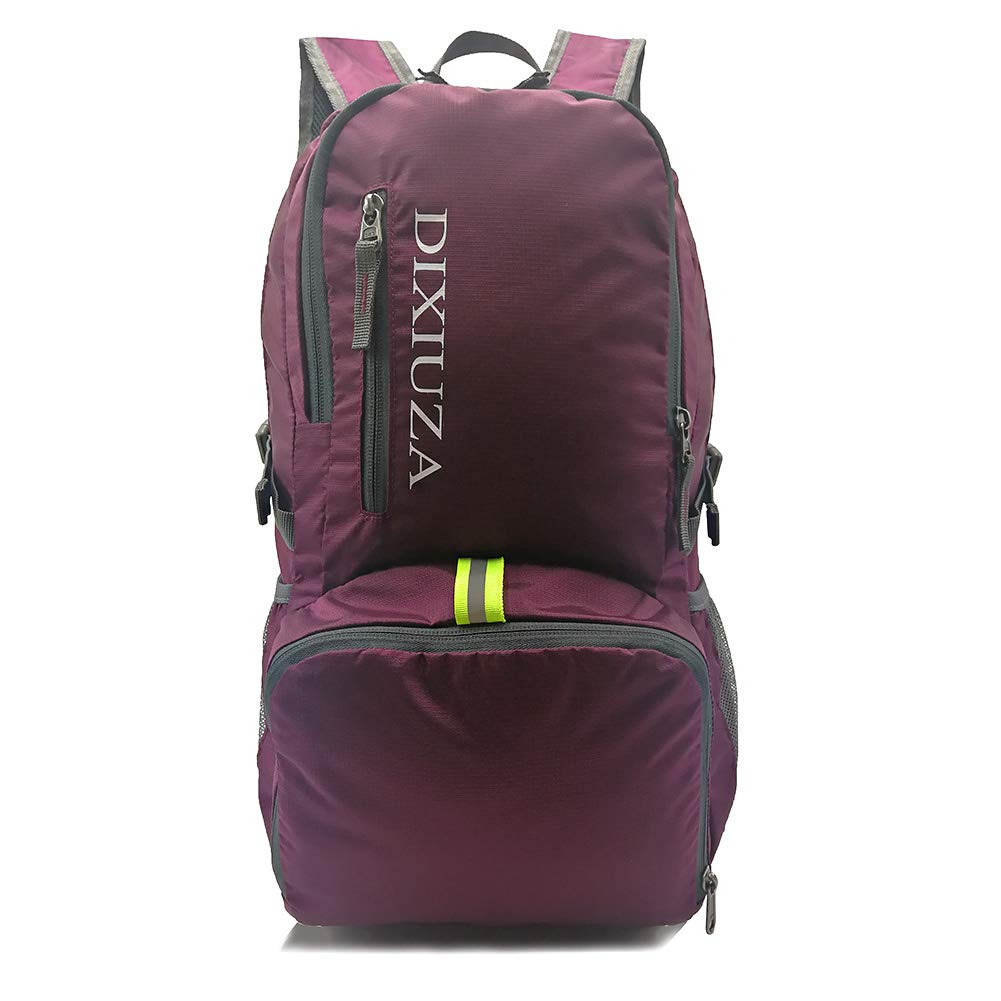 Lightweight Packable Backpack - DIXIUZA Water Resistant 35L Daypack for Travel, Cycling, Hiking, Camping, Beach, Outdoors